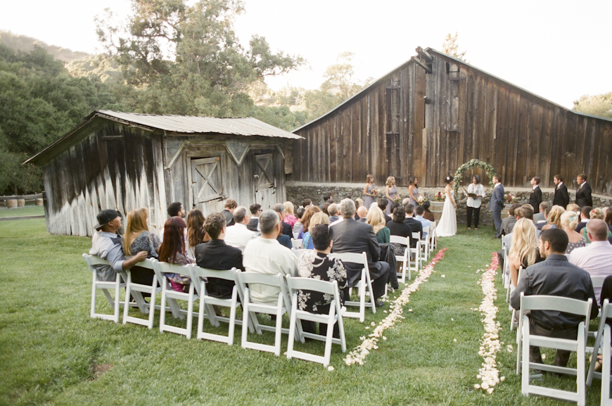 Wedding Ceremony in front of our Historic Barn